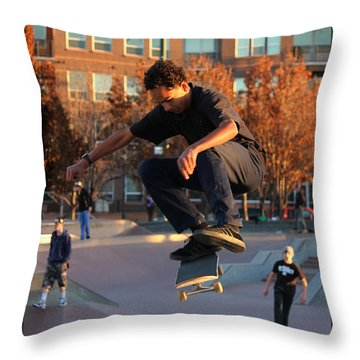Flying High Throw Pillow by Sylvia Thornton