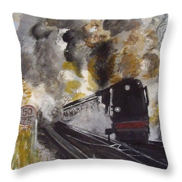 Flying Home Throw Pillow by Carole Robins
