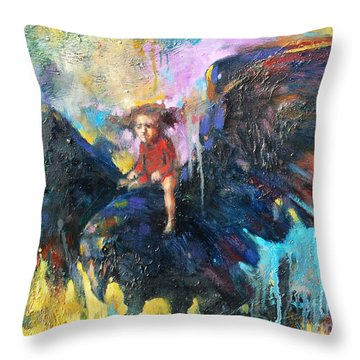Flying In My Dreams Throw Pillow by Michal Kwarciak