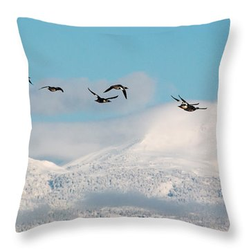Flying North Throw Pillow