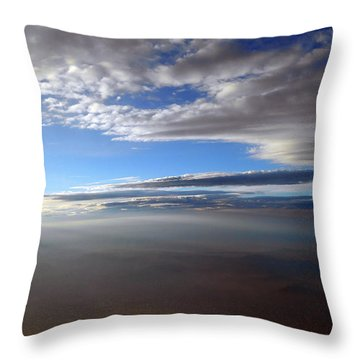 Flying Over Southern California Throw Pillow