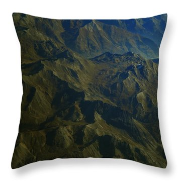 Throw Pillow featuring the photograph Flying Over The Alps In France by Colette V Hera  Guggenheim