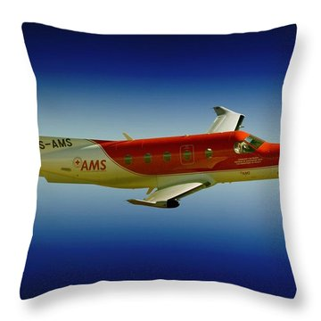 Flying Throw Pillow by Paul Job