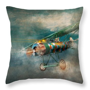 Flying Pig - Acts Of A Pig Throw Pillow by Mike Savad