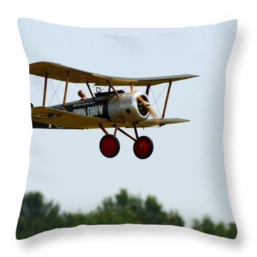 Flying Rc Throw Pillow by Thomas Young