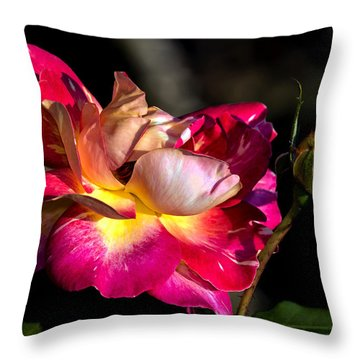 Flying Rose Throw Pillow