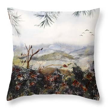 Flying South For The Winter Throw Pillow by Vicki  Housel