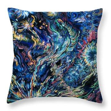 Flying Spirits Throw Pillow by Karen Nell McKean