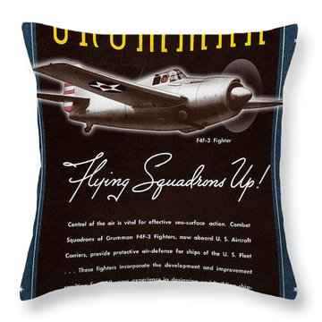 Grumman Flying Squadrons Up Throw Pillow