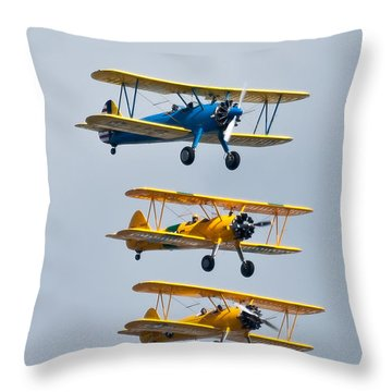 Flying Steermen  Throw Pillow