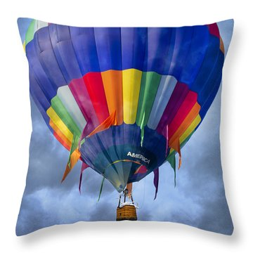 Flying The Coop Throw Pillow by Betsy Knapp