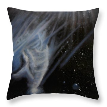 Flying To The Universe Throw Pillow