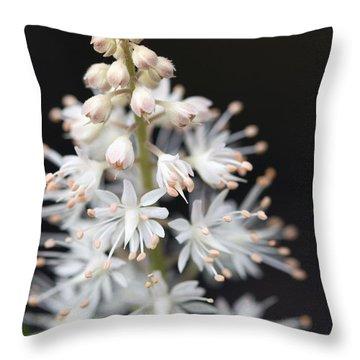 Foam Flower Throw Pillow by Melinda Fawver