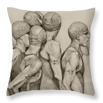Throw Pillow featuring the drawing Focus by Jani Freimann