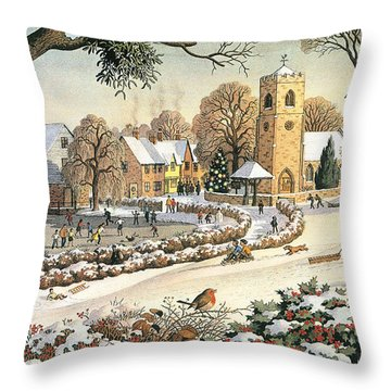 Focus On Christmas Time Throw Pillow