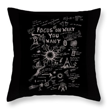 Focus On What You Want Throw Pillow