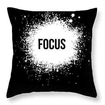 Focus Poster Black Throw Pillow