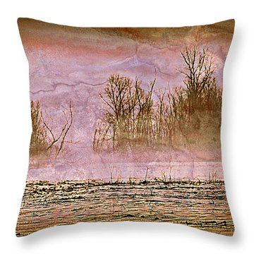 Fog Abstract 3 Throw Pillow by Marty Koch