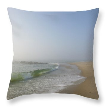 Fog And Blue Sky 2 Throw Pillow