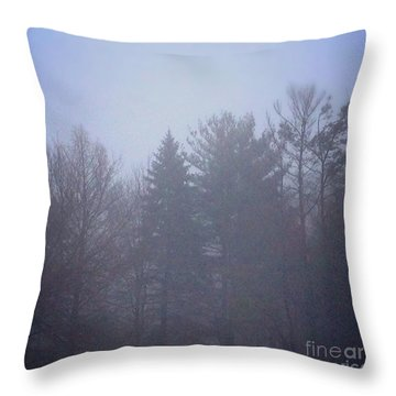 Fog And Mist Throw Pillow