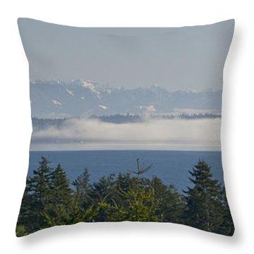 Fog Bank Throw Pillow