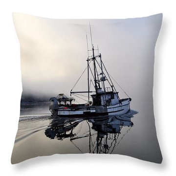 Fog Bound Throw Pillow