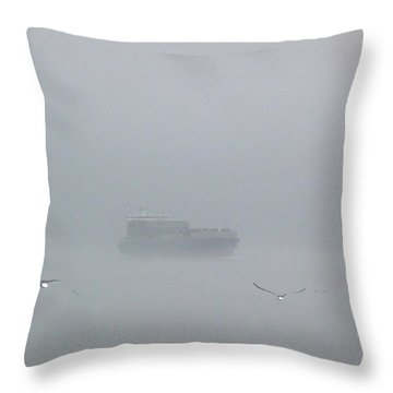 Fog Bound Throw Pillow