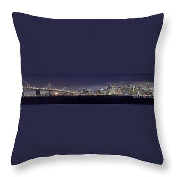 Fog City San Francisco Throw Pillow by Mike Reid