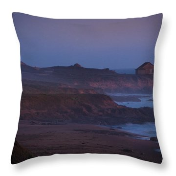 Fog Forming Over Piedras Blancas....  San Simeon Throw Pillow
