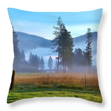 Fog Highlights Throw Pillow
