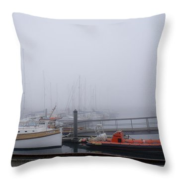 Fog In Marina IIi Throw Pillow