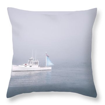 Fog Lift Throw Pillow by Richard Bean