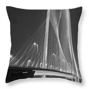 Fog Lights And Lines Iv Throw Pillow