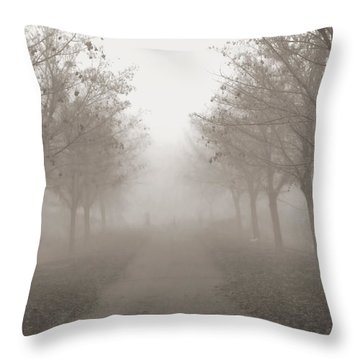 Fog Monochrome Throw Pillow