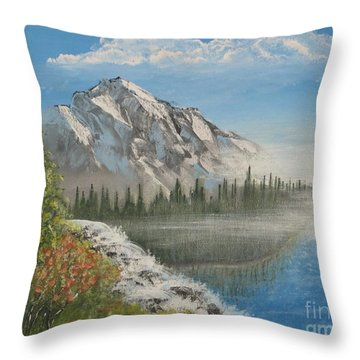 Fog Mountain Colorado Throw Pillow by Tim Townsend