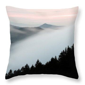 Fog On The Mountain Throw Pillow