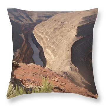 Throw Pillow featuring the photograph Fog Over Gooseneck Park  by Fortunate Findings Shirley Dickerson