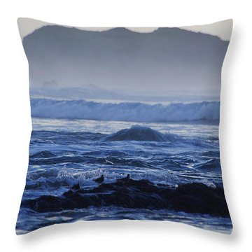 Fog Rolling In Throw Pillow by Adria Trail