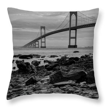 Fog Rolls Over The East Passage Throw Pillow