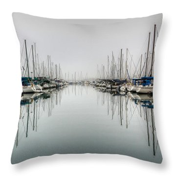 Throw Pillow featuring the photograph Foggy Autumn Morning  by Heidi Smith