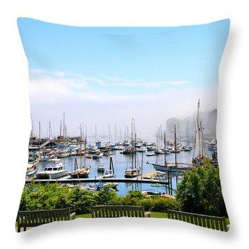 Foggy Camden Throw Pillow by Corinne Rhode