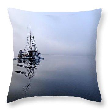 Foggy Throw Pillow by Cathy Mahnke