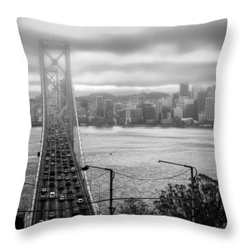 Foggy City Of San Francisco Throw Pillow