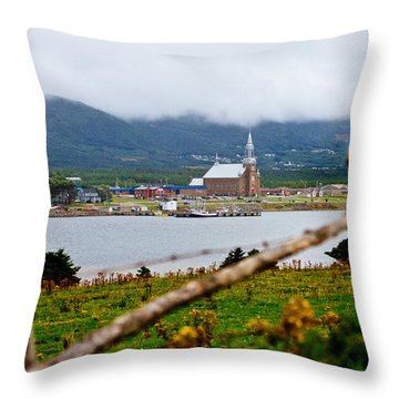 Foggy Day In Cheticamp Throw Pillow