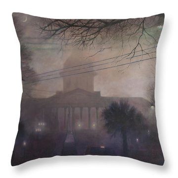 Foggy Dome Throw Pillow by Blue Sky