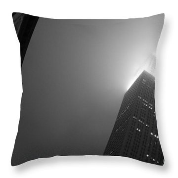 Foggy Empire Throw Pillow