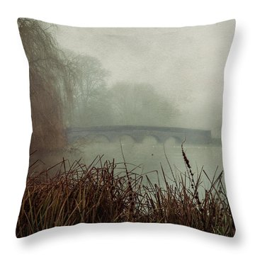 Foggy Five Arches Throw Pillow