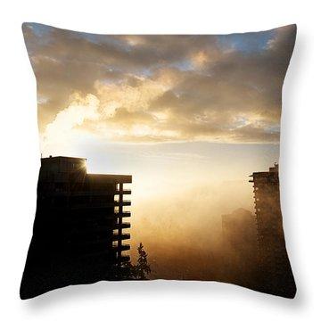 Foggy Morn Throw Pillow by Lisa Knechtel