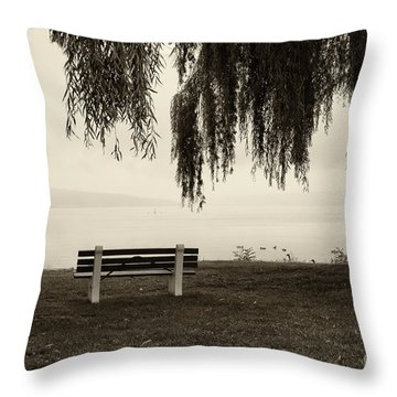 Foggy Morning At Stewart Park Throw Pillow