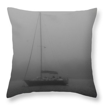 Foggy Morning Throw Pillow by Dan Williams